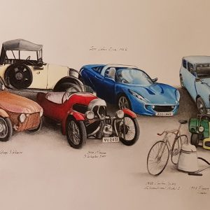 Multi Car Drawing